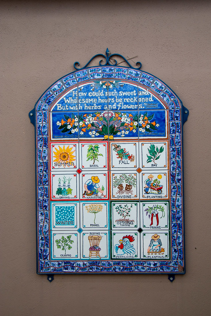 Sign describing different herbs