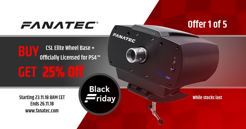 Fanatec 2018 Black Friday Deal 1