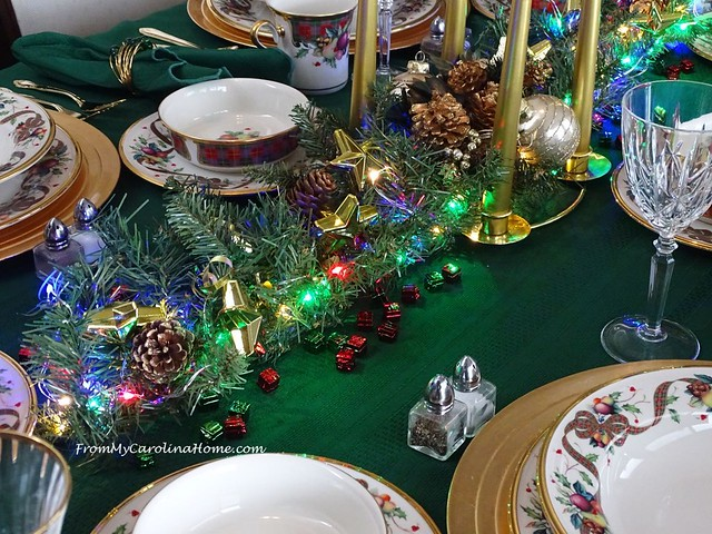 Christmas Tablescape 2018 at FromMyCarolinaHome.com
