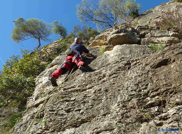 Antonio Serra - Salva, El Alpinista Feliz, 6a -02- Les Casetes Est, Subsector Heidi Metal (02-12-2018)