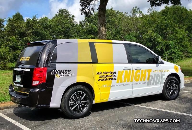 Vinyl van wrap designed & installed by TechnoWraps.com in Orlando