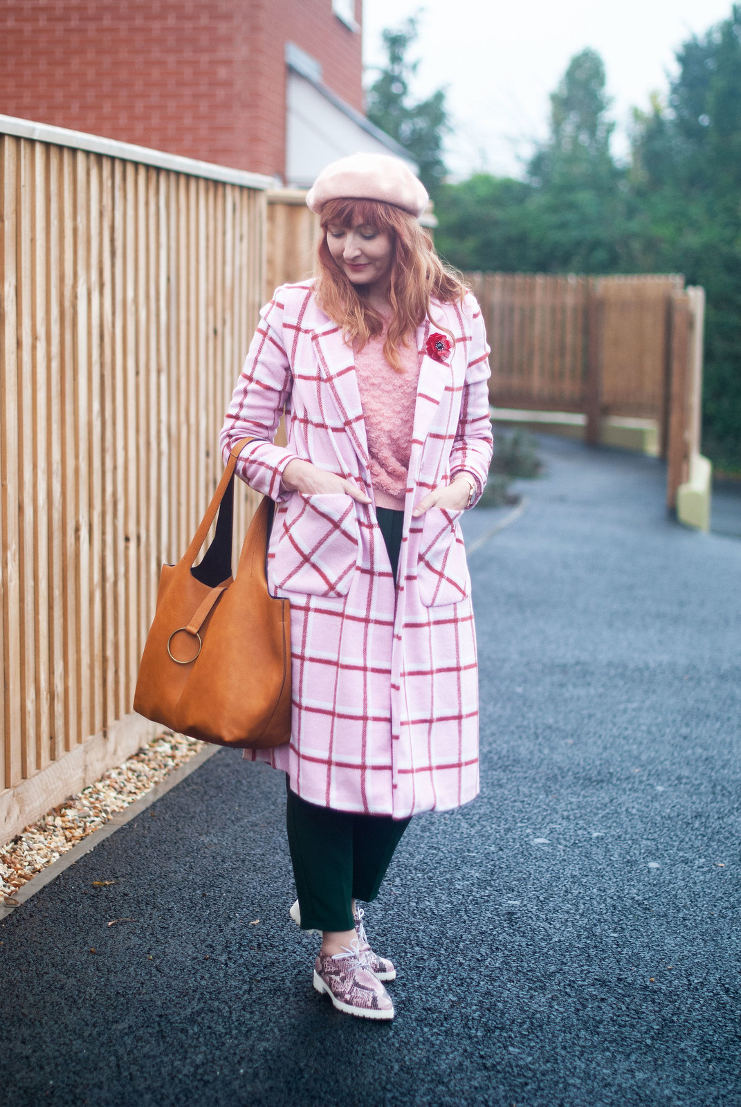 A Pink Check Coat With a Touch of Parisian Chic | Not Dressed As Lamb, style for over 40s