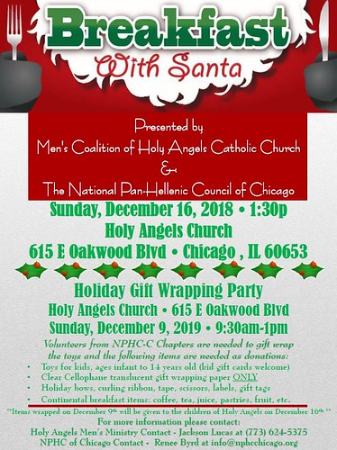 Holy Angels and NPHCC Breakfast with Santa