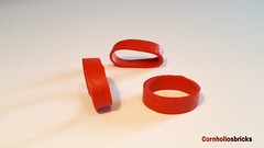 Unreleased lego red Train Rim for 4.5V & 12V Locomotive Wheels Partnr: trainrim