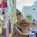 Hat Shopping in a Market in Cabo San Lucas by aaronrhawkins