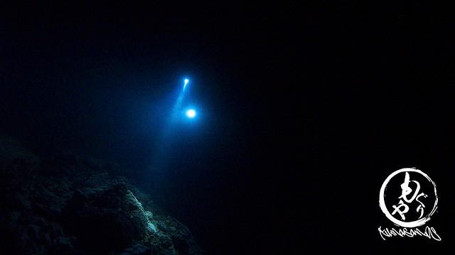 洞窟内ではライトが美しい。