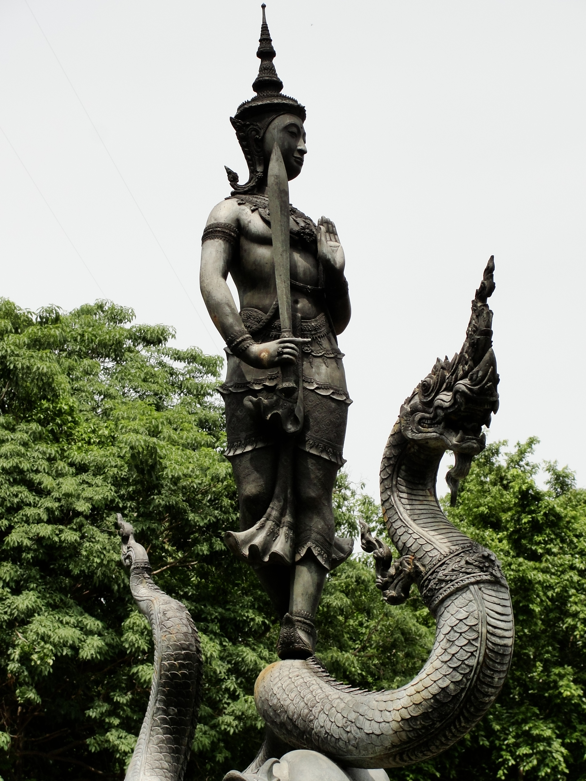 Varuna, known in Thailand as Phra Phirun, the god of rain, is the symbol of Kasetsart University in Bangkok. Photo taken on August 23, 2009.
