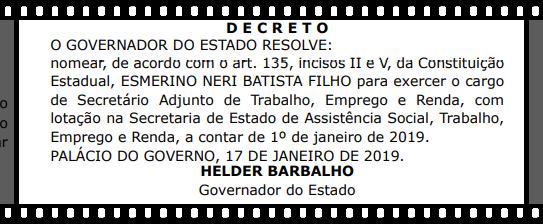 Miriquinho Batista no governo Helder