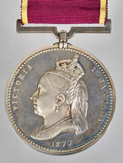 1877 Empress of India Medal obverse