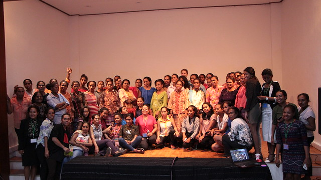 Participants of the inaugural Women Fisher's Forum in Timor-Leste. Photo by WorldFish.