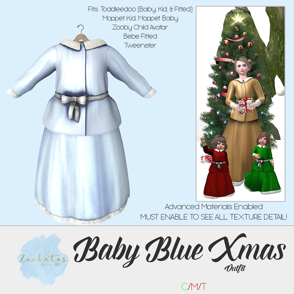Zoobatos – Baby Blue Xmas Outfit