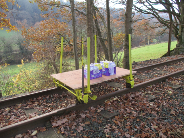 Light weight track trolley
