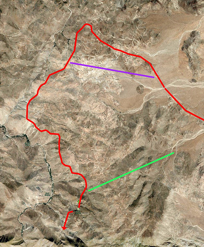 Carrizo Gorge Aerial Annotated