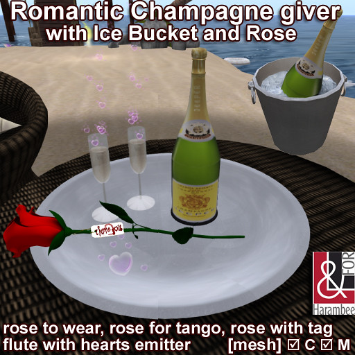 Romantic Champagne set & roses giver - TeleportHub.com Live!