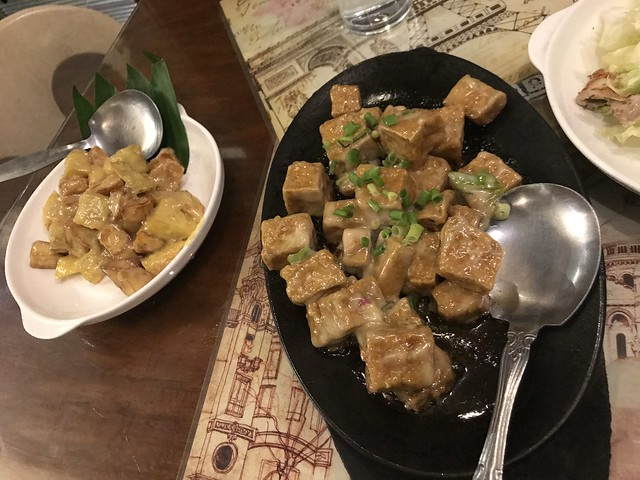 Camote de Leche and Sizzling Tofu Steak