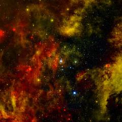 A Nearby Stellar Cradle. Original from NASA. Digitally enhanced by rawpixel.