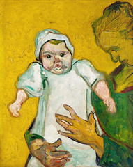 Madame Roulin and Her Baby (1888) by Vincent Van Gogh. Original from the MET Museum. Digitally enhanced by rawpixel.