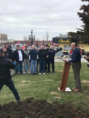 SPD Officers Attend Speedway War Memorial Groundbreaking