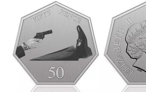 Brexit alternate coin design Shooting Foot