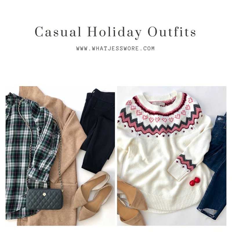 Casual Holiday Oufits on www.whatjesswore.com