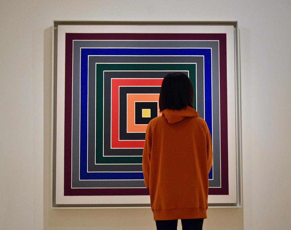 Ami Kurosaki (B.Arch. '21) admires art in the Guggenheim Venice during her semester at Cornell in Rome.  photo / Alp Demiroglu (B.Arch. '21)