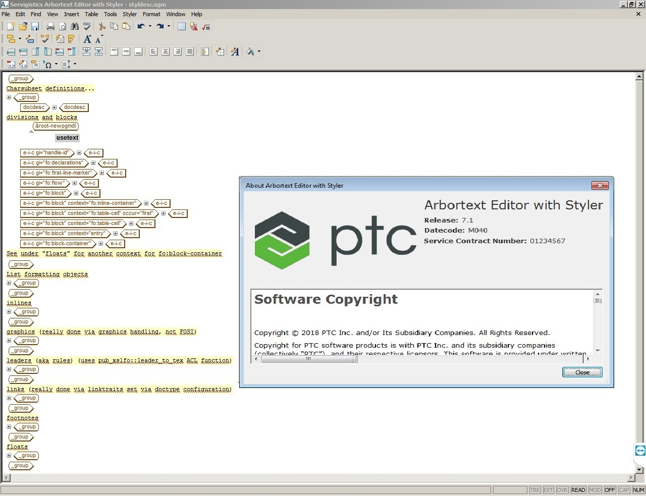 Download PTC Arbortext Editor 7.1 M040 Win64 full license forever