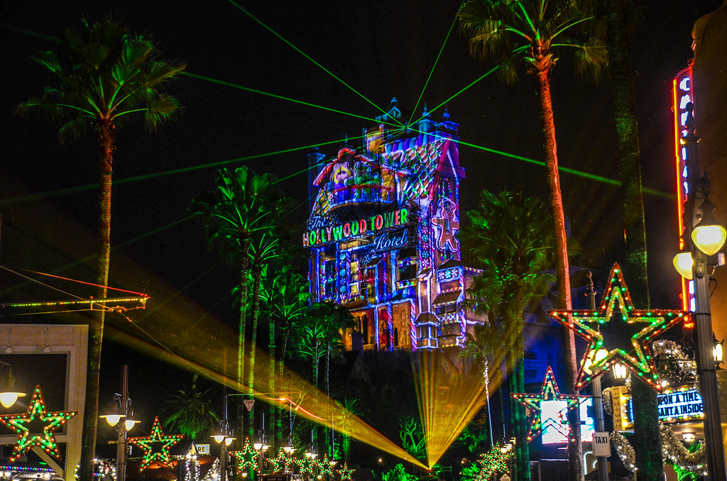 Sunset Boulevard projections Christmas DHS
