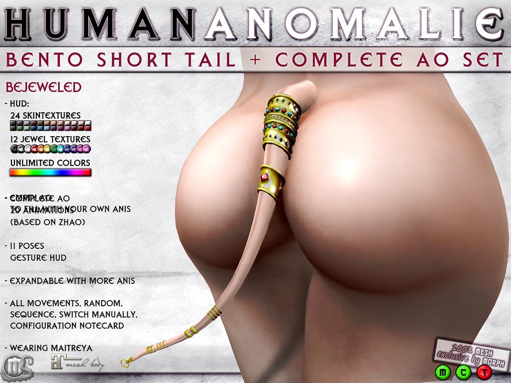 0o Morph - Human Anomalie Tail with jewels - TeleportHub.com Live!