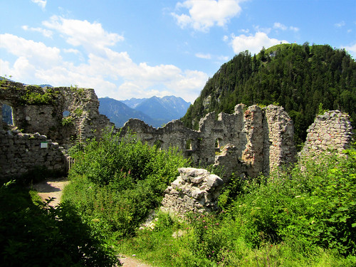 view of ruins at Ehrenberg Castle in Austria