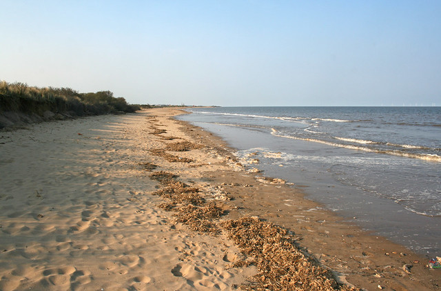The beach south of Skegness