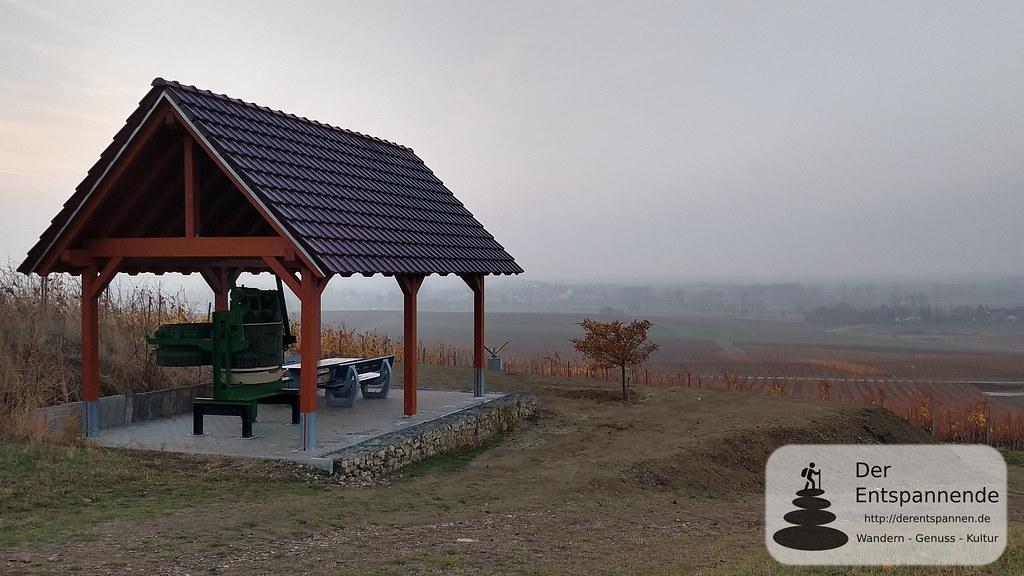 Offene Schutzhütte vom Weingut Christianshof