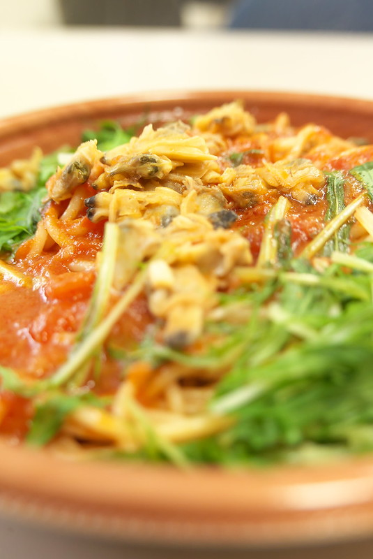 セブンイレブン 1/2日分野菜パスタ あさりと水菜のボンゴレ