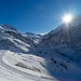 Unteralptal in the sun - and one skier