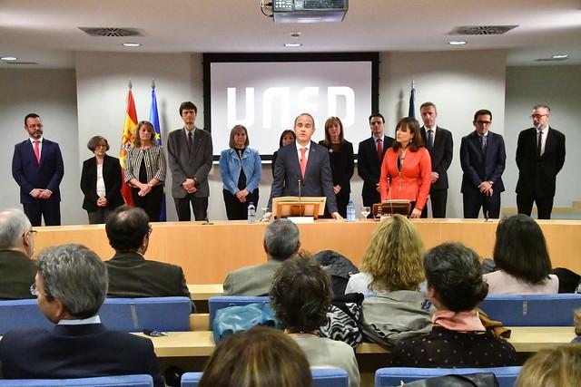 Toma de posesión de los nuevos vicerrectores de la UNED (21/12/18)