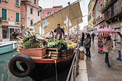 Venice - Fruit and Vegetable Canal Boat Shop