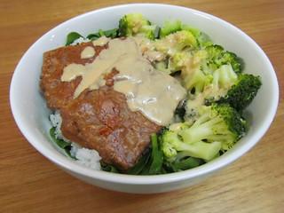 Peanut Butter Tempeh; Korean Tahini BBQ Sauce