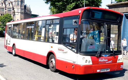 DG02 WXV 'Halton Transport' No. 29. Dennis Dart SLF / Marshall Capital on Dennis Basford's railsroadsrunways.blogspot.co.uk' 9