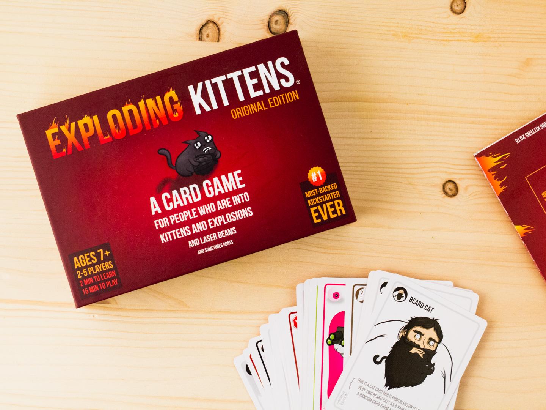 Dolle pret met Exploding Kittens