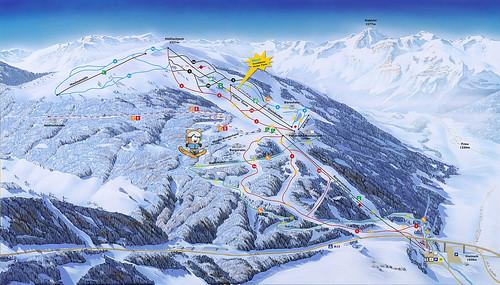 Mapa lyžařského areálu Bergeralm