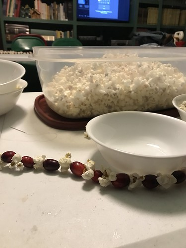 popcorn and cranberry strings