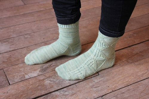 Twisted Argyle socks