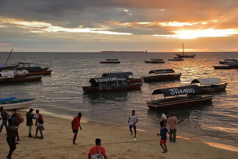 Soccer on Beach, Zanzibar