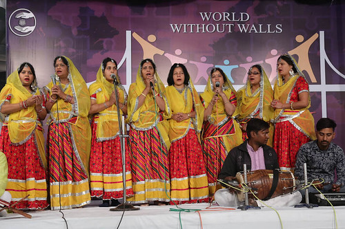 Welcome song by devotees from Bikaner