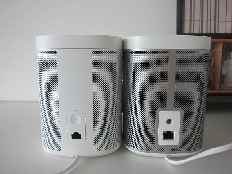 Sonos One (White) vs Sonos Play:1 (White) - Back