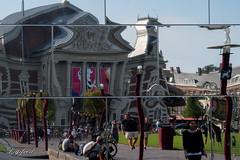 Concertgebouw in de spiegels.