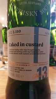 SMWS 2.110 - Caked in custard