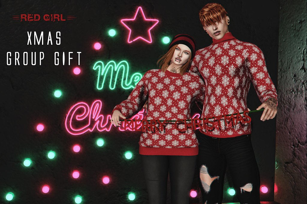 [RED GIRL] Xmas Sweater GIFT - TeleportHub.com Live!