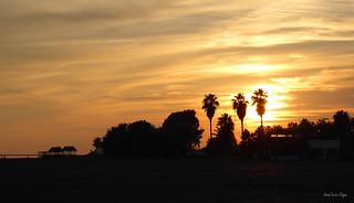 Atardecer en la playa de Motril. Sunset at Motril Beach (Spain).