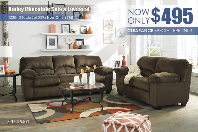 Dailey Chocolate Sofa & Loveseat_95403-38-35-T238_special