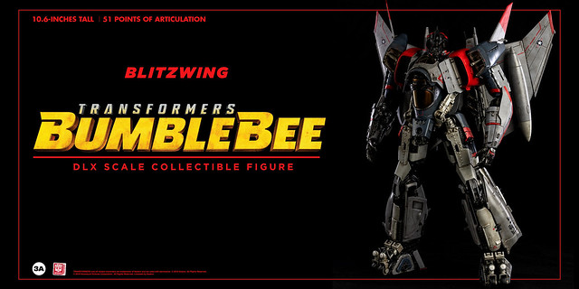 threeA DLX比例收藏級系列《大黃蜂》閃電 Blitzwing 10 吋可動人偶作品